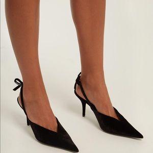Balenciaga 'Knife' Velvet Slingback Pumps